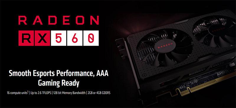 AMD Radeon RX 560 Hashrate
