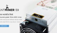 Bitmain Antminer S9 Hashrate