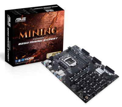 Asus B250 Mining Expert - The World's first 19 GPU Mining Motherboard