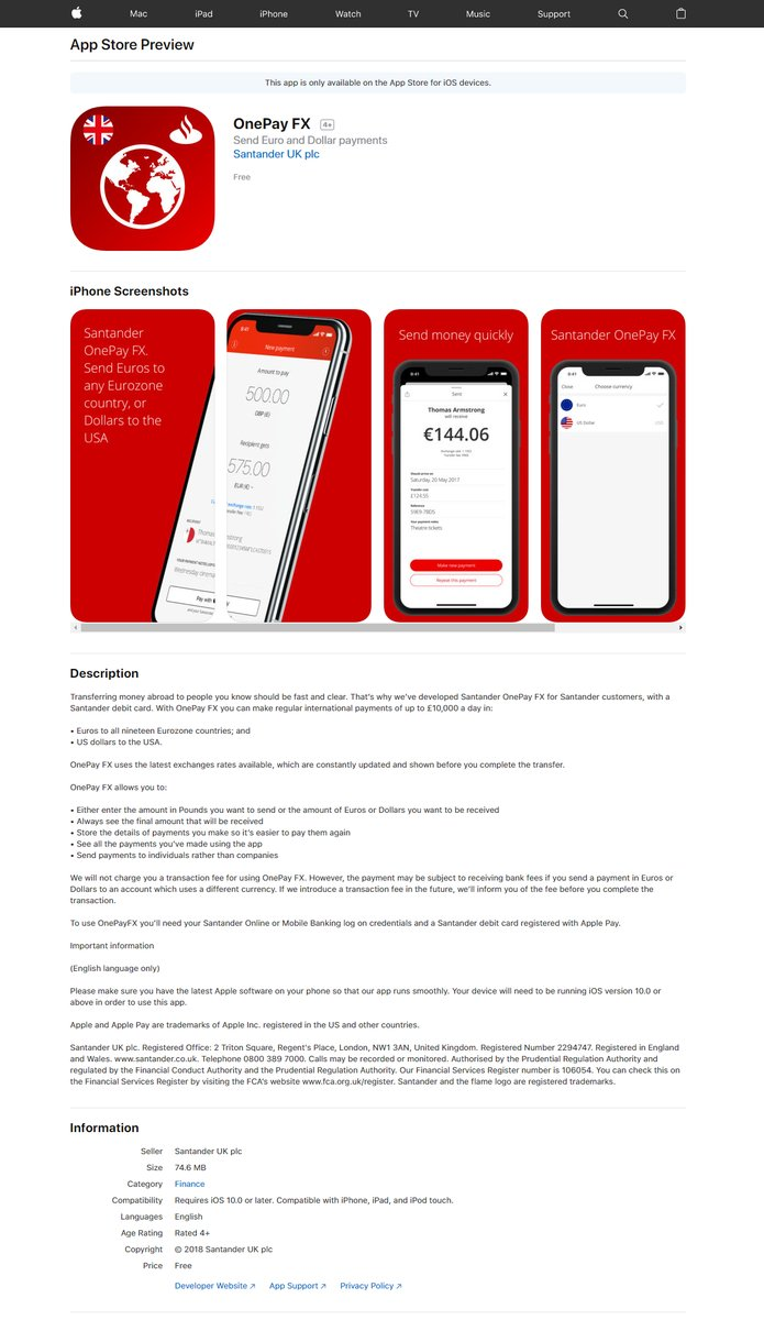 First Live Transaction by Santander's One Pay FX throgh xCurrent RippleNet